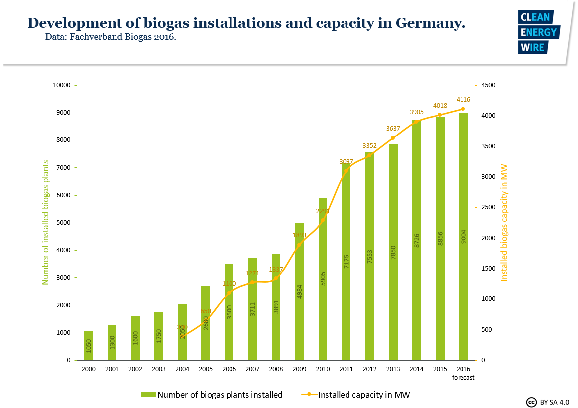 Bioenergy in Germany – facts and figures on development, support and