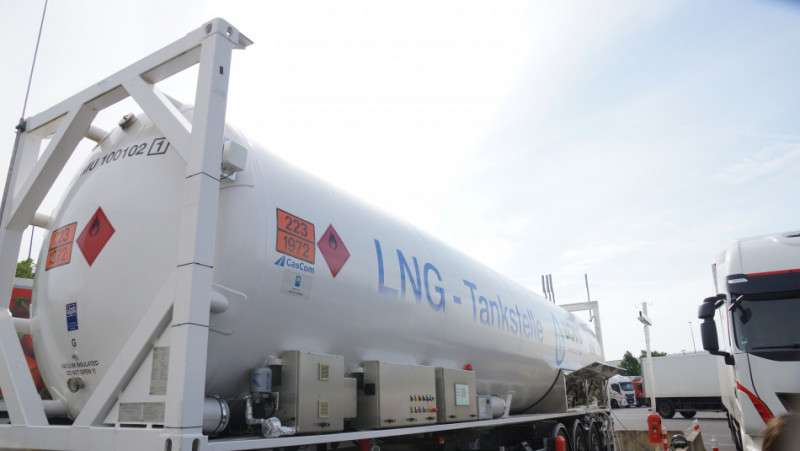 LNG is currently brought into Germany on trucks or by pipelines after it has been re-gasified abroad. Photo - CLEW