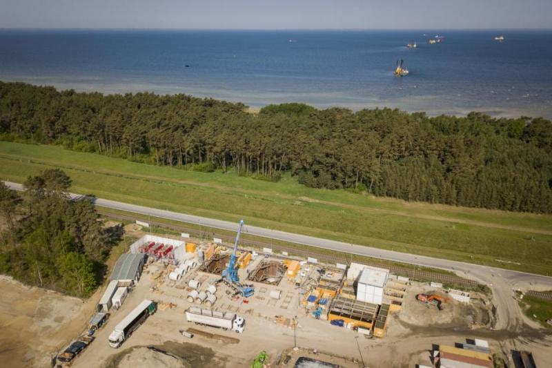Photo shows construction works of Nord Stream 2 natural gas pipeline at the Landfall in Lubmin, Germany. Source - Axel Schmidt, Nord Stream 2 2018.