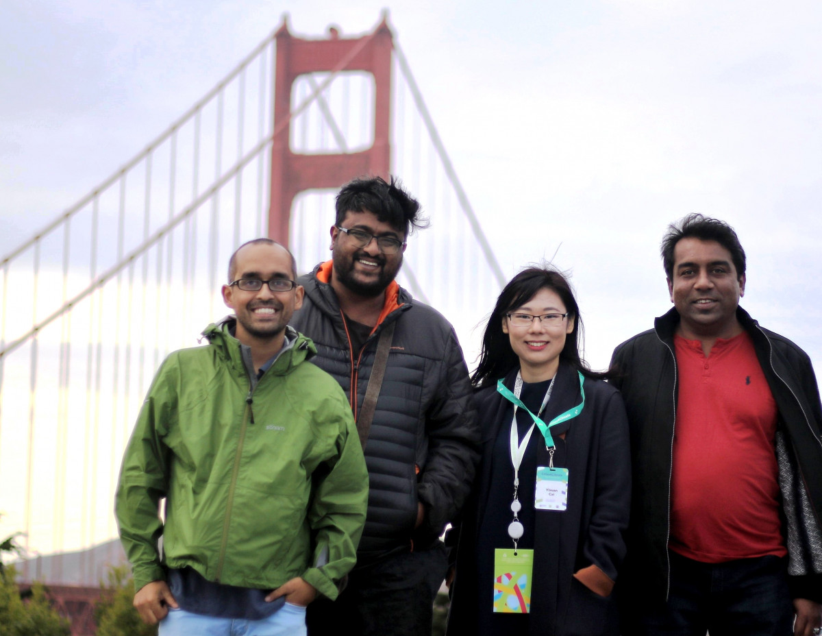 The team: Abhaya Raj Joshi, Karthikeyan Hemalatha, Catherine Cai and Amar Guriro. Photo credits: Photo credit: Abhaya Raj Joshi