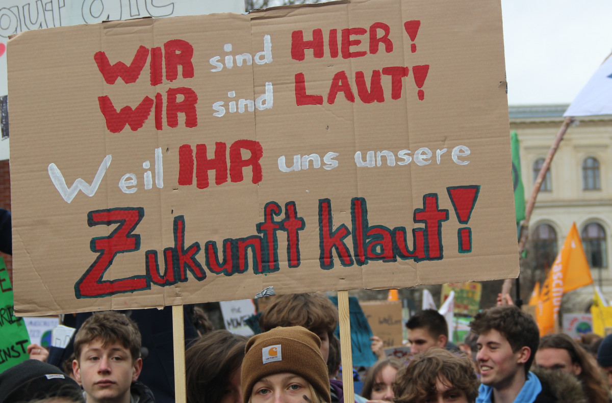"Protesters shouted ""We're here, we're loud, because you are stealing our future!"" at the 15 March 2019 protests in Berlin. Photo: Phil Bednarczyk"