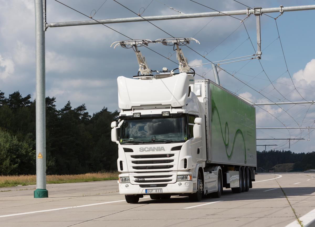 In The Media Testing Overhead Lines For Electric Trucks