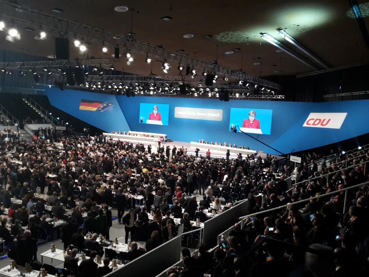 Delegates at the opening of the 29th federal party conference of the CDU in Essen, December 2016.