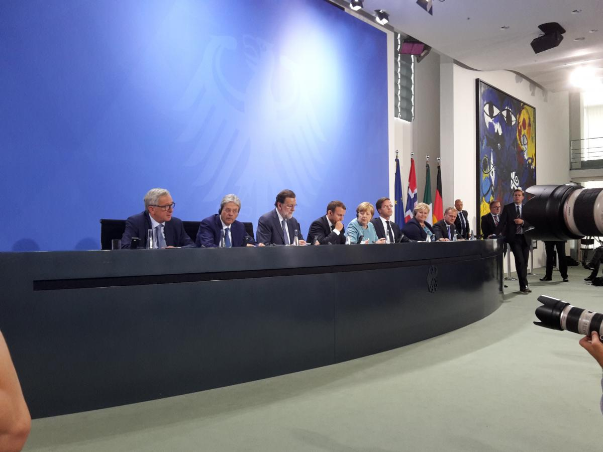 EU leaders at a G20 preparatory meeting in the German chancellery. Source - CLEW 2017.