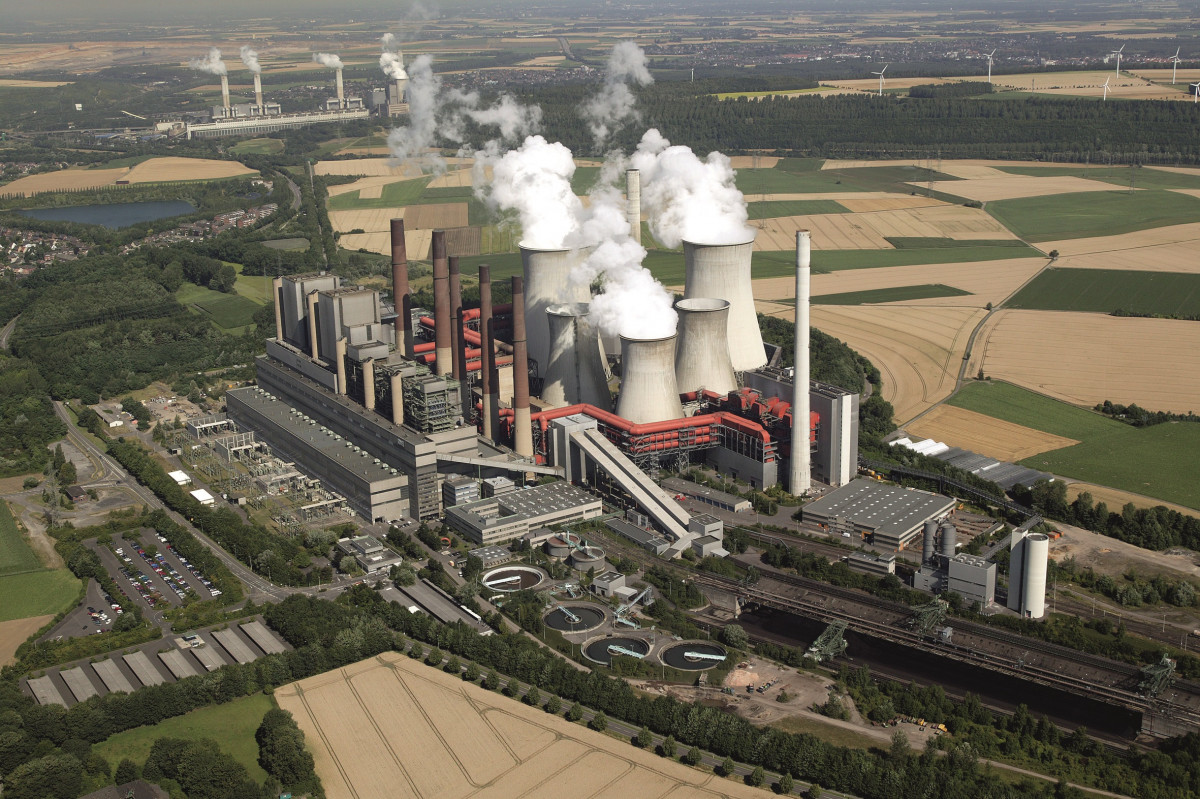 Lignite-fired power station Neurath in the German state of North-Rhine Westphalia, Germany. Photo: RWE.