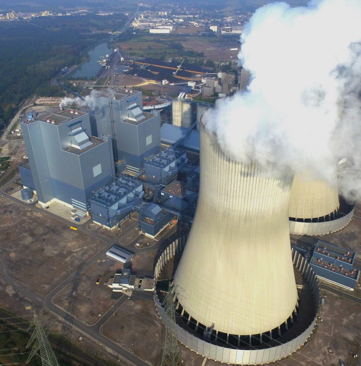 Hard coal power plant Kraftwerk Westfalen in Hamm, North Rhine-Westphalia, Germany. Photo - RWE AG.