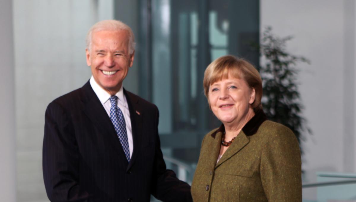 Angela Merkel meets then US Vice-President Joe Biden in Berlin in 2013. Photo: US Botschaft Berlin.