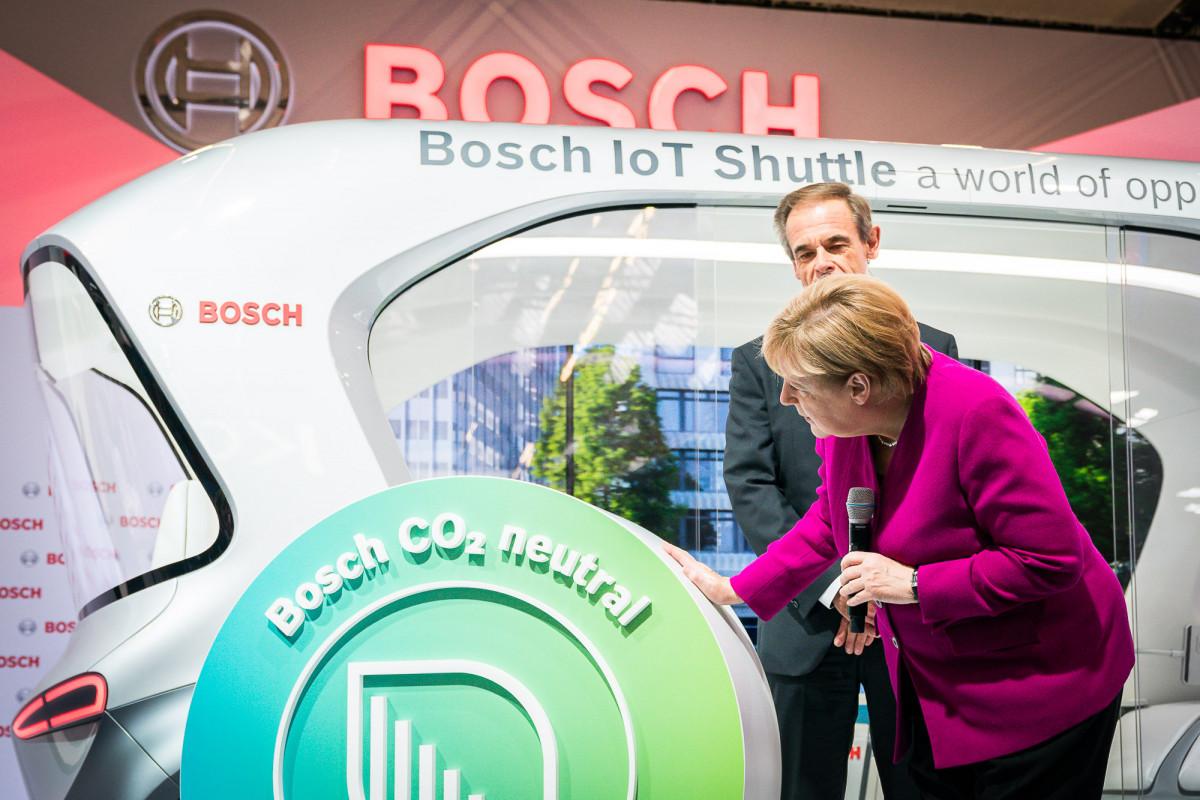 German Chancellor Angela Merkel at 2019 IAA car fair in Frankfurt. Photo: Bundesregierung/Kugler.