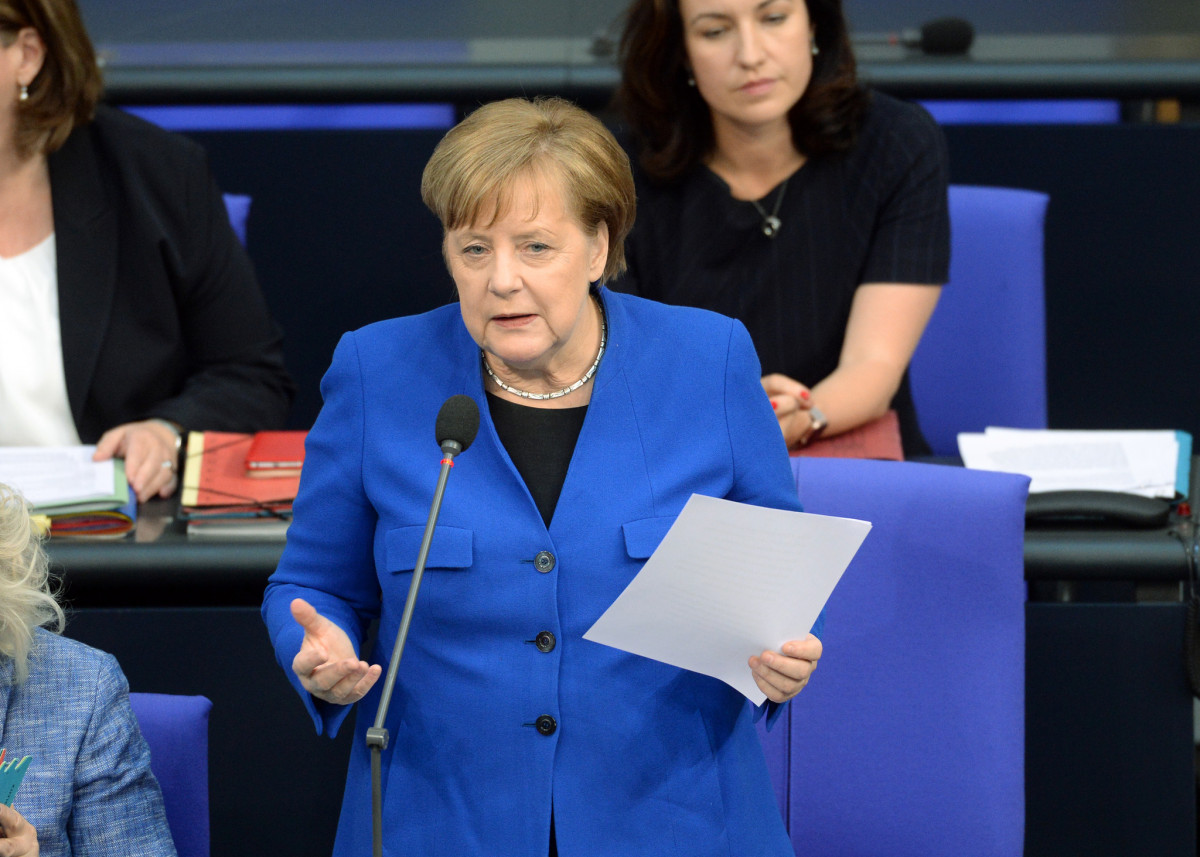 German Chancellor Angela Merkel (CDU) questioned by parliamentarians in the Bundestag on 10 April 2019. Photo: Bundestag/Melde 2019.