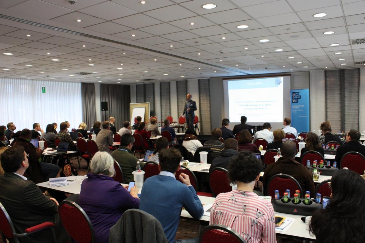 Sven Egenter opening remarks at the Global Energy Transition Journalism conference