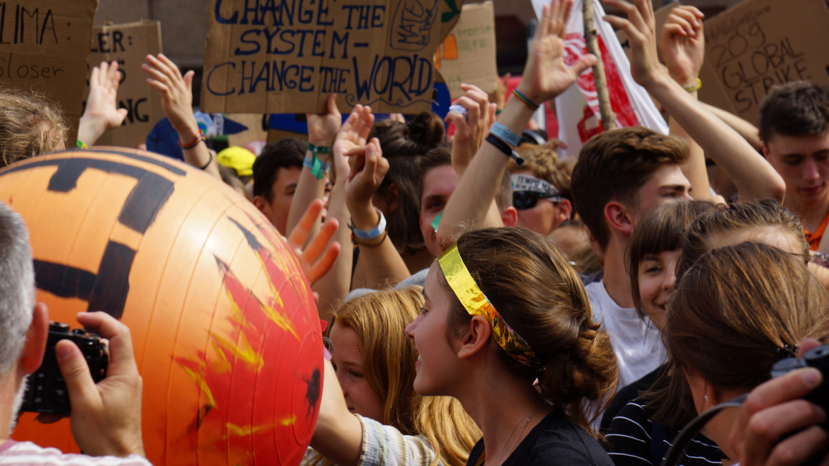Fridays for Future student climate protest in Dortmund in August 2019. Photo: CLEW/Mohn.
