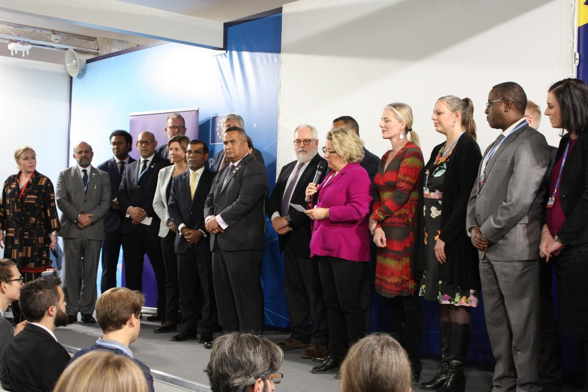 Announcement of High Ambition Coalition at COP24. Photo: Wettengel/CLEW.