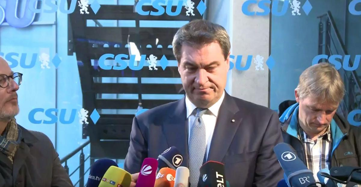 Photo shows Bavarian state premier Markus Söder (CSU). Source - CSU 2018.