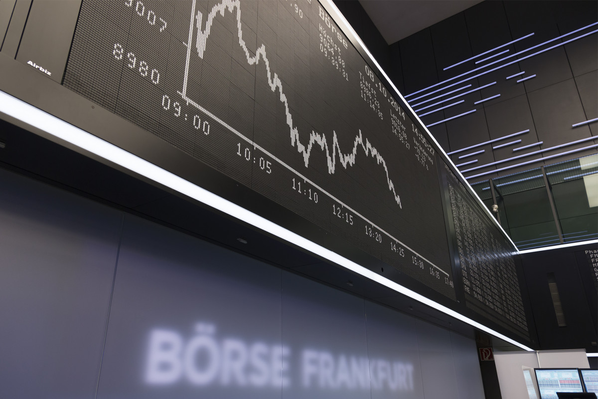 """People active in financial markets have started to realise that they face severe losses"" - Germany's stock market index DAX at the Frankfurt exchange. Photo - Deutsche Börse AG"