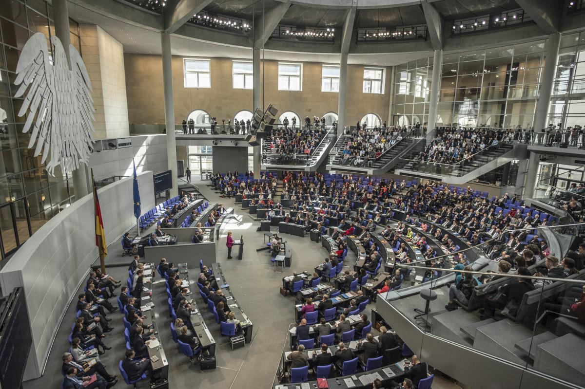 Photo shows plenary of German Bundestag. Photo: Deutscher Bundestag / Marc-Steffen Unger.