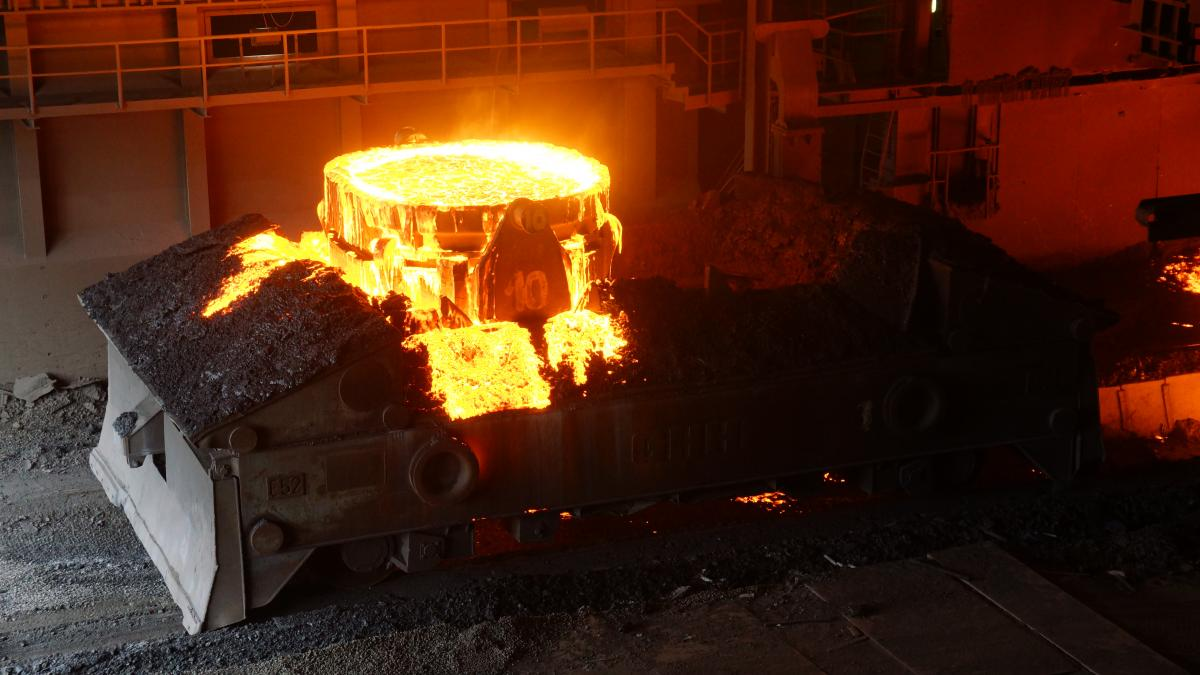 Steel production at ThyssenKrupp steel mill in Duisburg. Source - CLEW 2017.