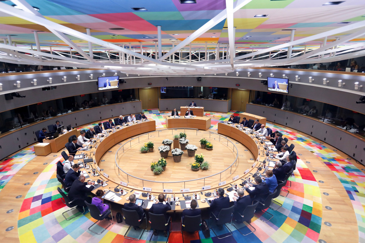 European heads of government sitting at the council summit. Photo: European Union