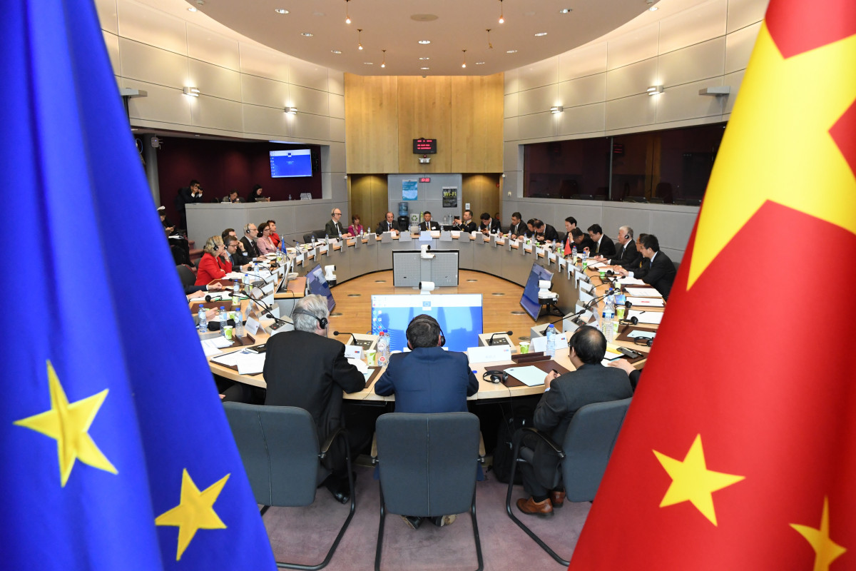 Photo shows participants of 4th EU-China High Level Innovation Cooperation Dialogue. Photo: European Union.
