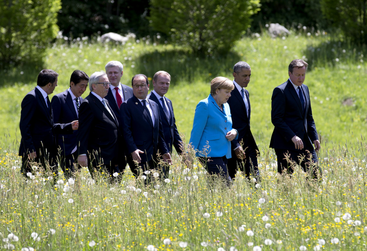 Germany's Merkel and other world leaders at the G7 summit in Elmau in 2015. Source: The European Union.