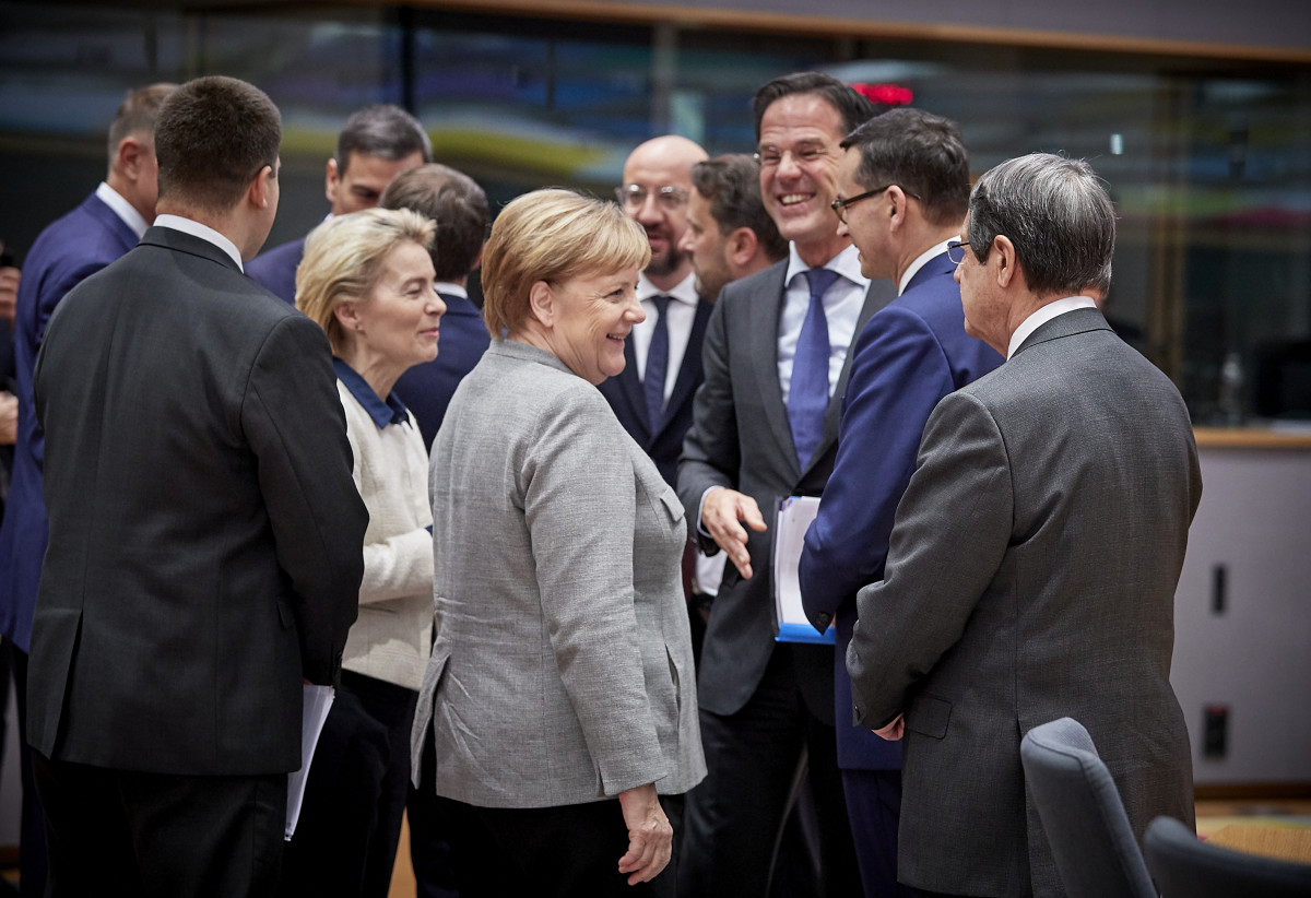 German chancellor Merkel with European leaders at the European Council summit in December 2019. Photo: European Union.