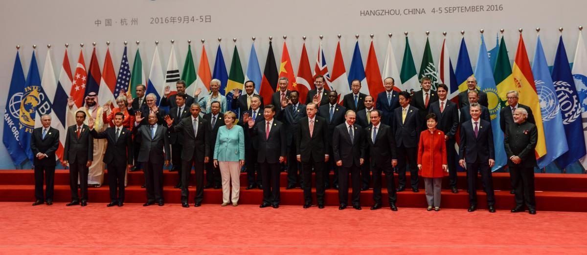 Group photo of the 2016 G20 summit in Hangzhou, China. Source - European Union 2017.
