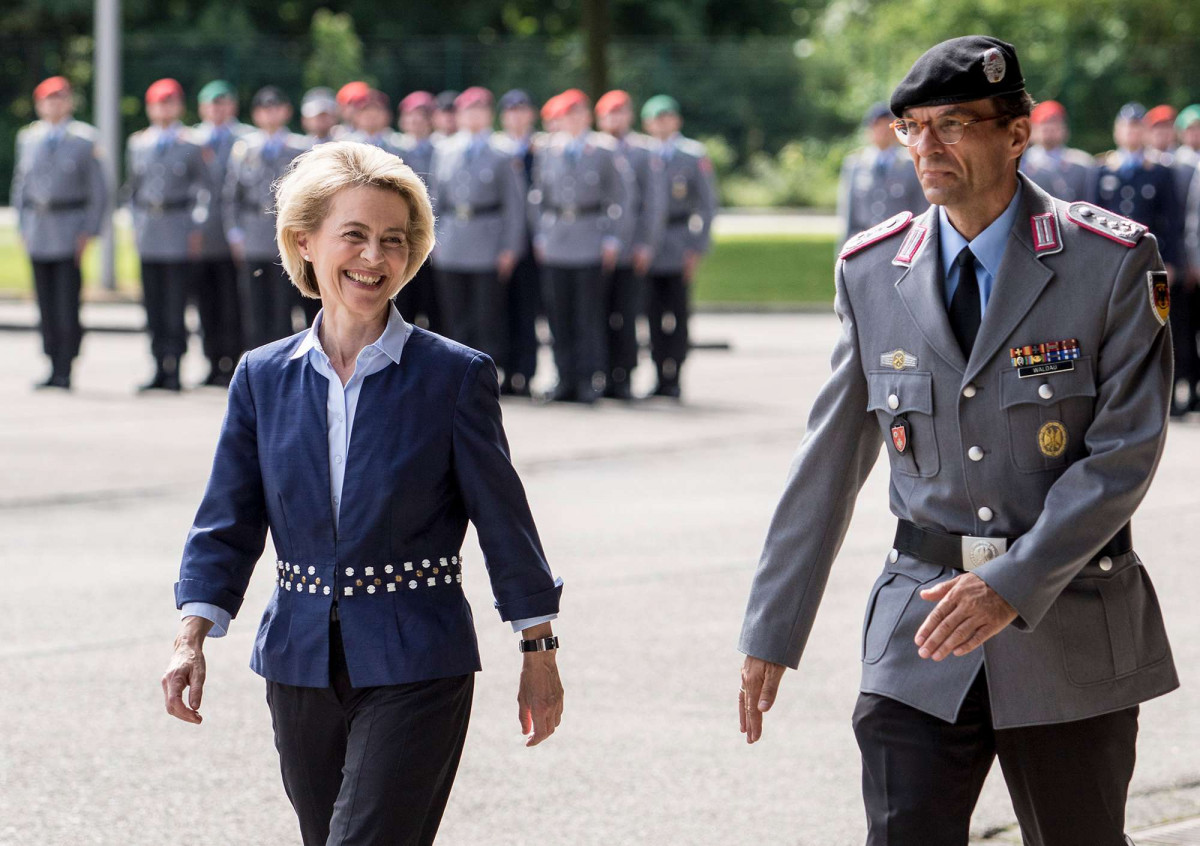 Defence minister Ursula von der Leyen in 2017. Photo - Federal Ministry of Defence