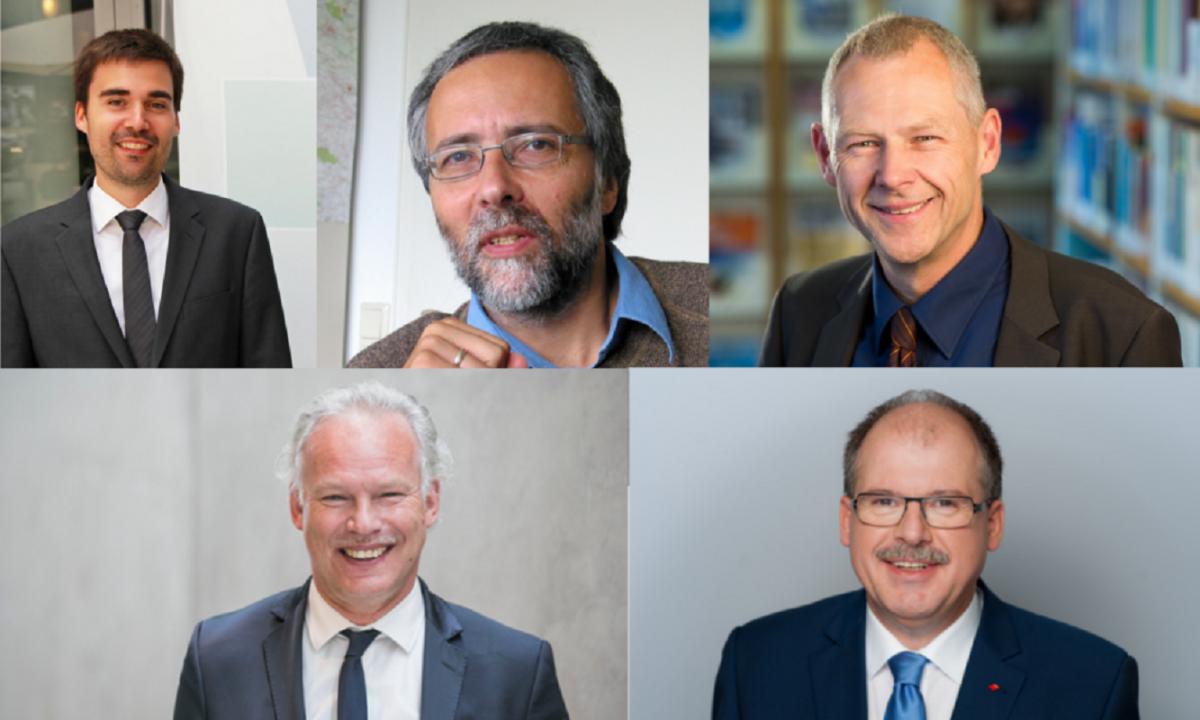 Sebastian Bolay, Christoph Bals, Manfred Fischedick, Hermann Albers, Stefan Körzell.