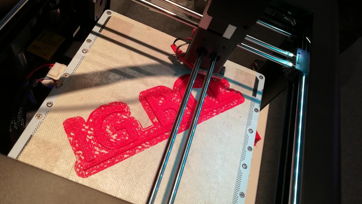 3D print of the logo of the IG BCE. Source - CLEW 2017.