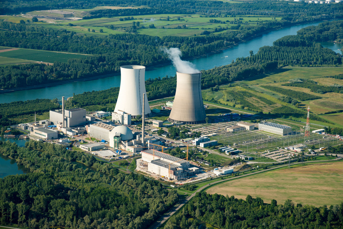 Photo shows EnBW's nuclear power plant Philippsburg. Source: EnBW/Daniel Meier-Gerber.