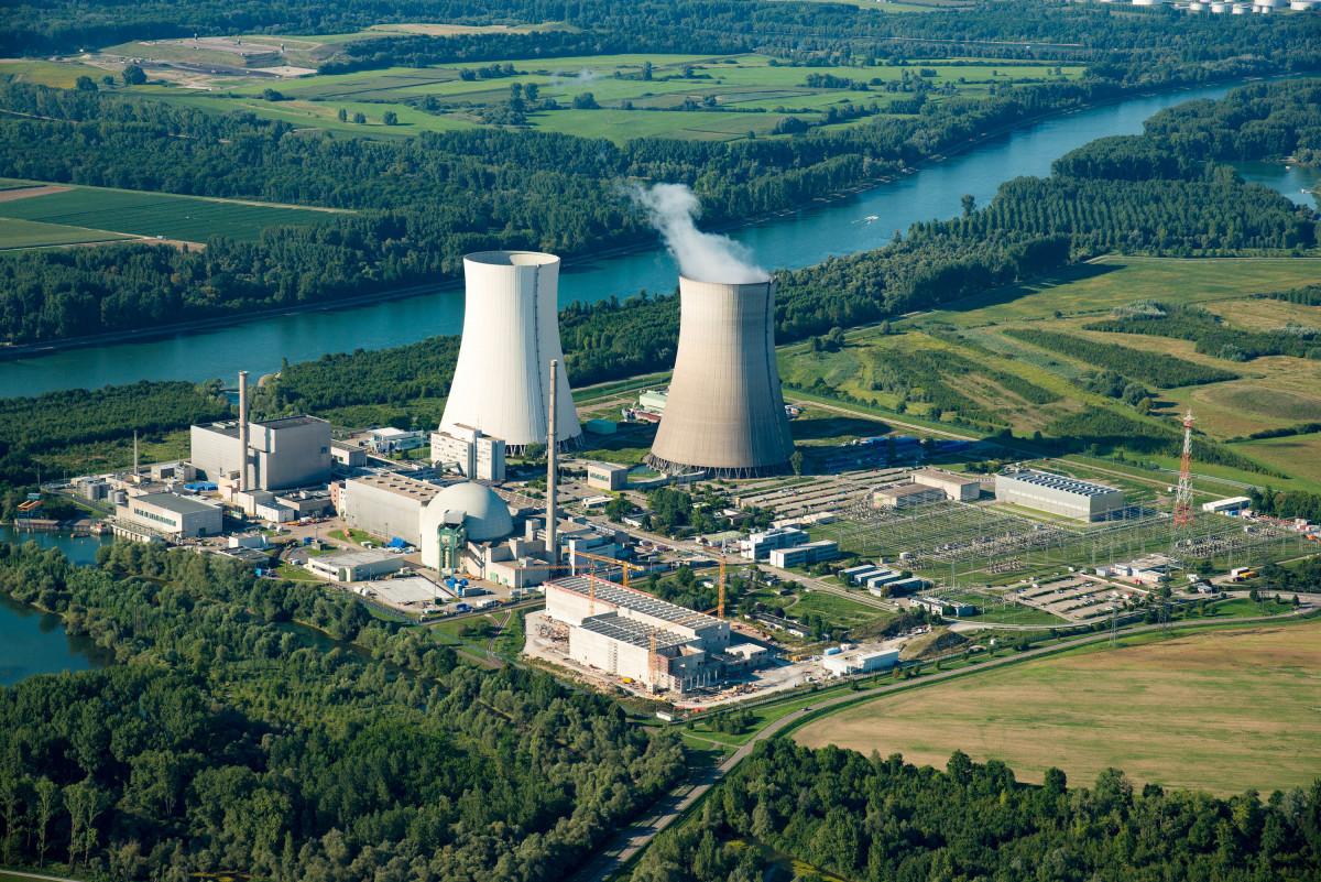 Photo shows EnBW's nuclear power plant Philippsburg. Source: EnBW/Daniel Meier-Gerber.