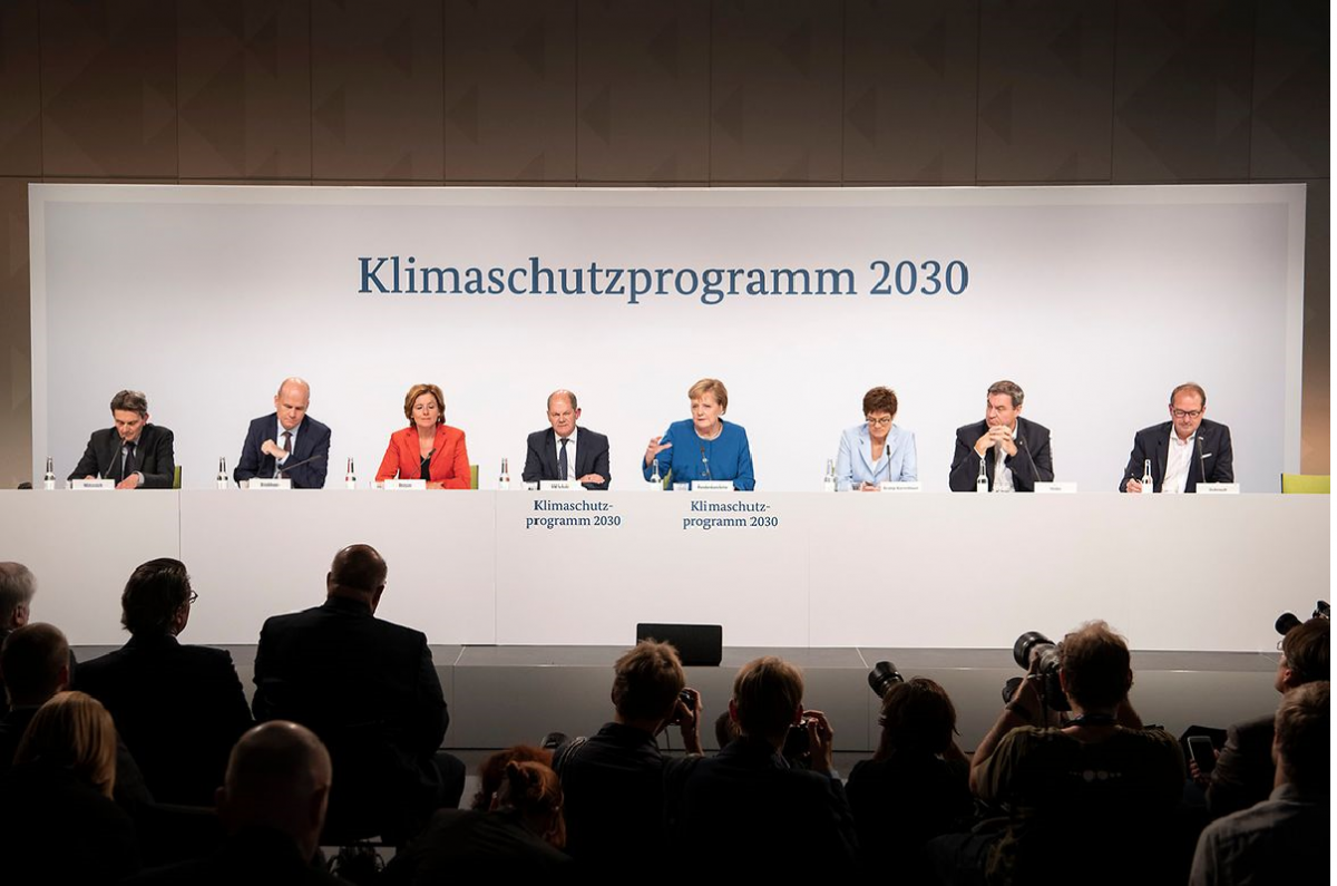 Germany's government parties present the Climate Action Programme 2030 in Berlin. Photo: Bundesregierung / Bergmann