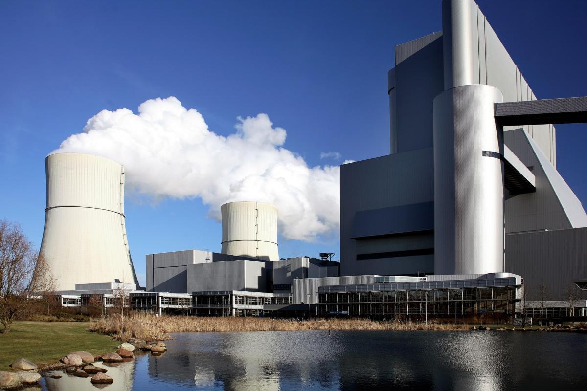 Schwarze Pumpe lignite power station in eastern Germany. Photo - LEAG/Hertmut Rauhut.