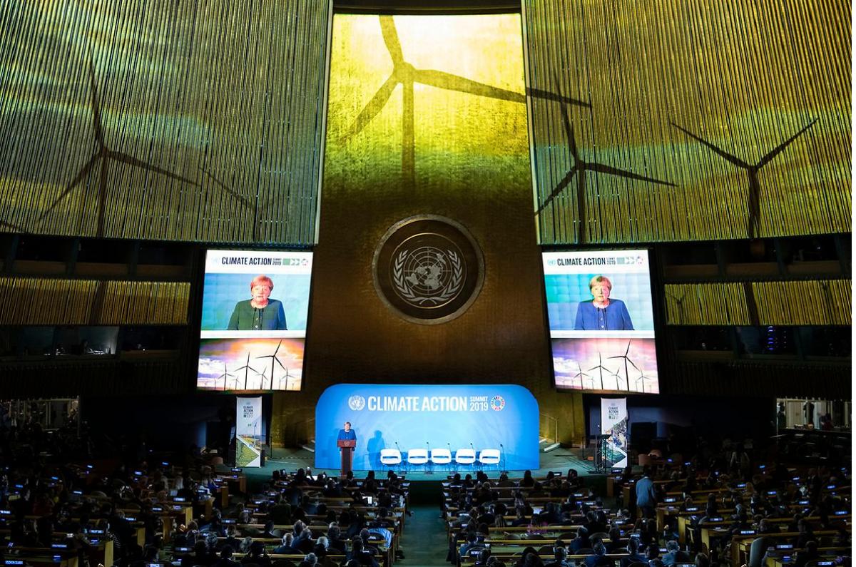 Angela Merkel at the UN Climate Action Summit in New York. Photo: Bundesregierung / Bergmann
