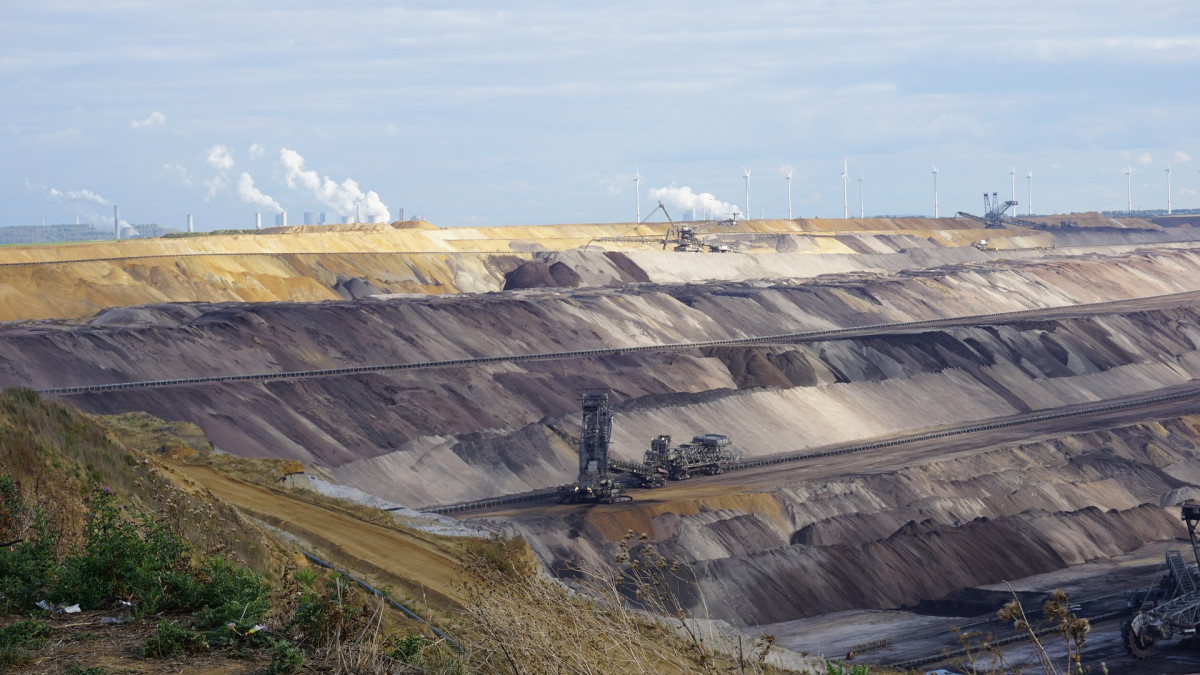 Open-cast lignite mine in western Germany. Photo: CLEW