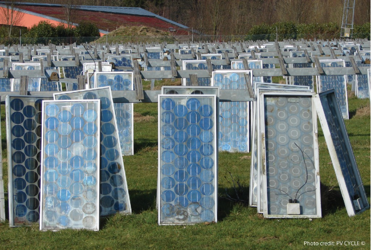 The volume of discarded solar panels is projected to mulitply several times over by the 2030s. Photo: PV Cycle