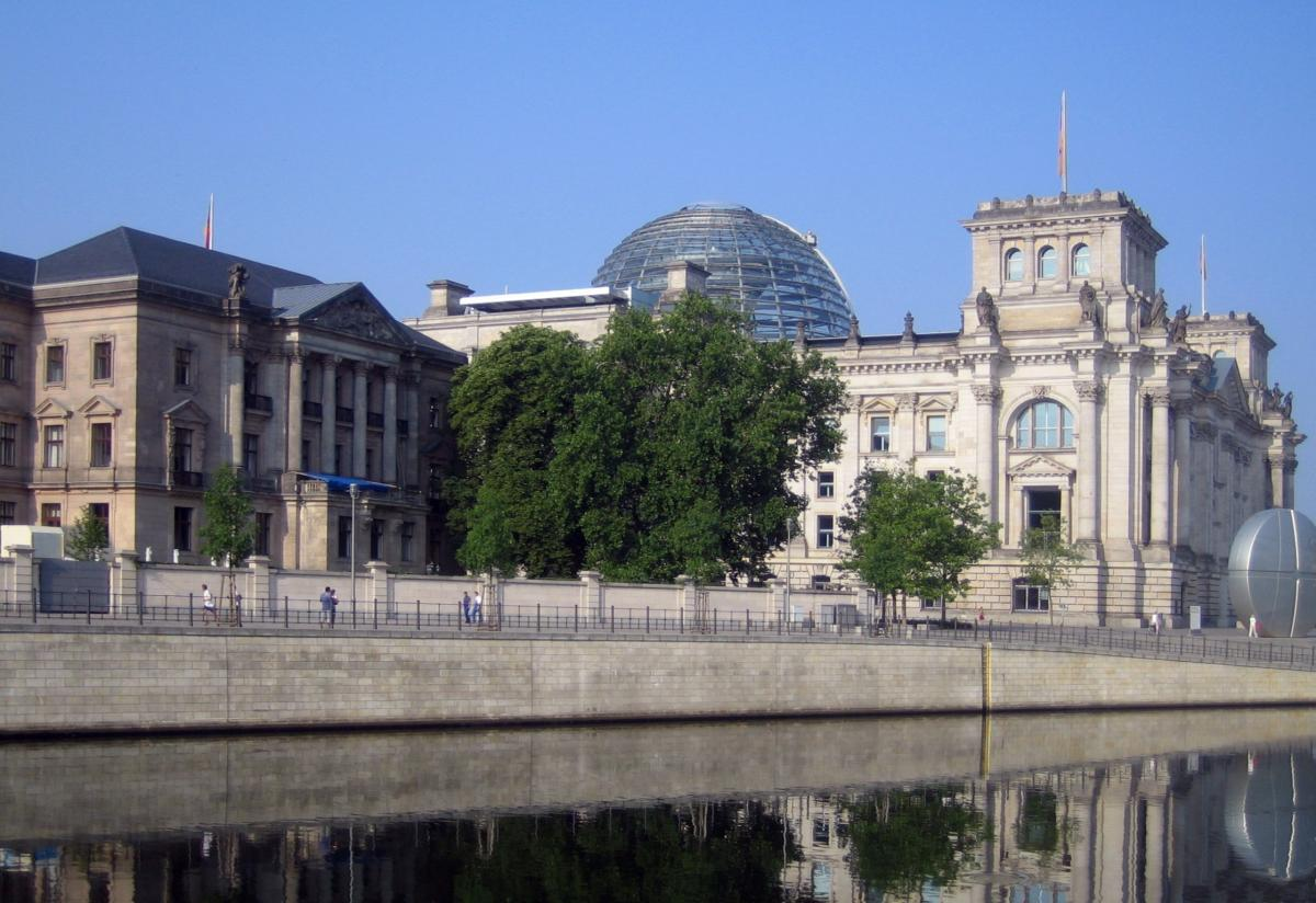The Presidential Palace (left), next to the German parliament, where coalition talks are held. Photo: Manfred Brueckels