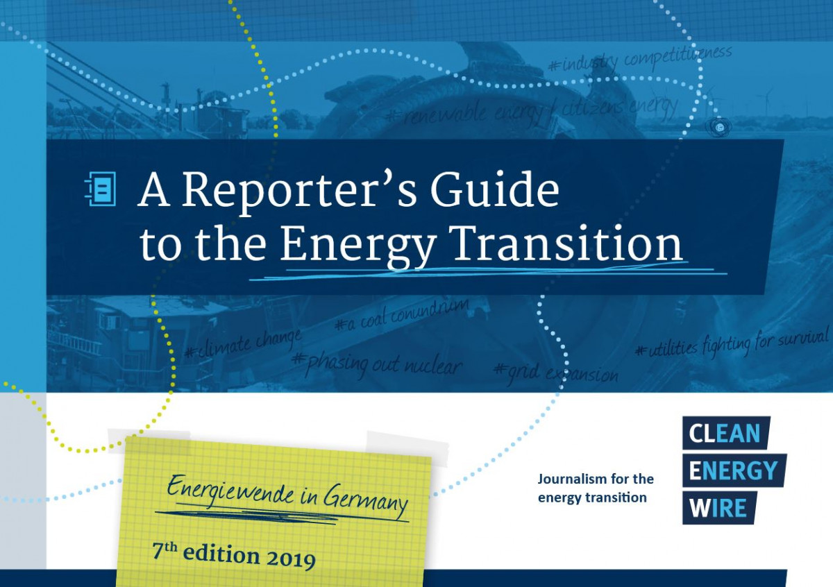photo shows cover of clean energy wire's reporter's guide to the German energy transition.