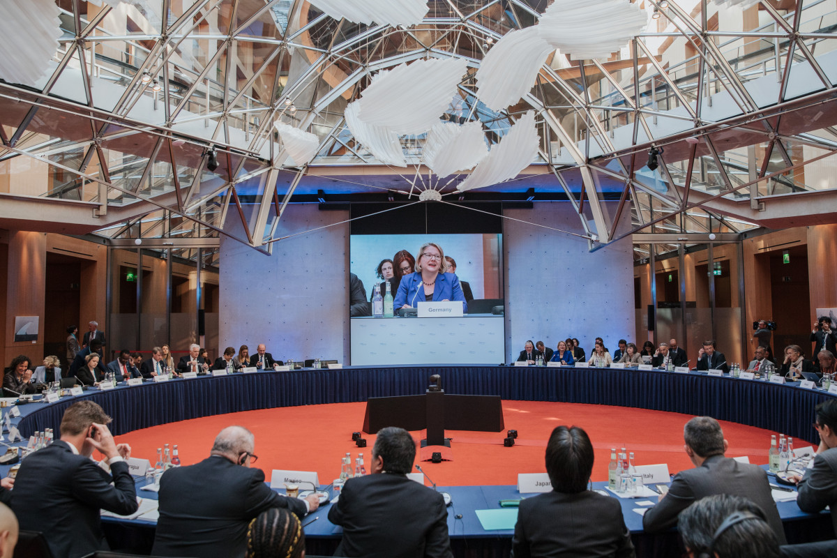 Speaking at the opening of the 10th Petersberg Climate Dialogue in Berlin, Germany's environment minister Svenja Schulze warned that national ambition had to increase to fulfill the Paris Agreement climate targets. Photo: Sascha Hilgers, BMU.