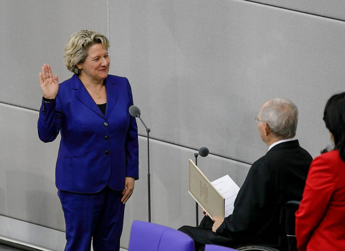 Schulze at her swearing-in ceremony in the German parliament. Photo: BMUB.
