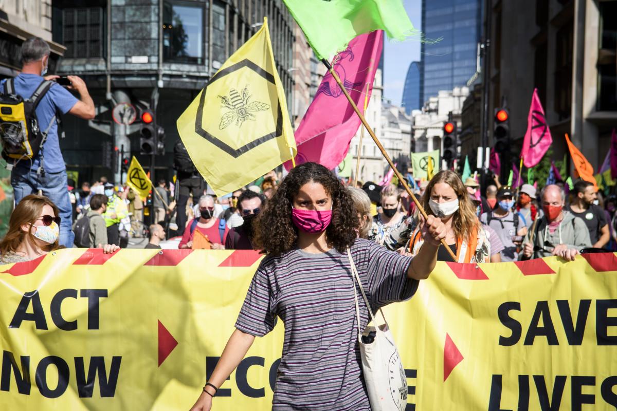 Extinction Rebellion UK protest, September 2020. Photo: Jonathon Vines