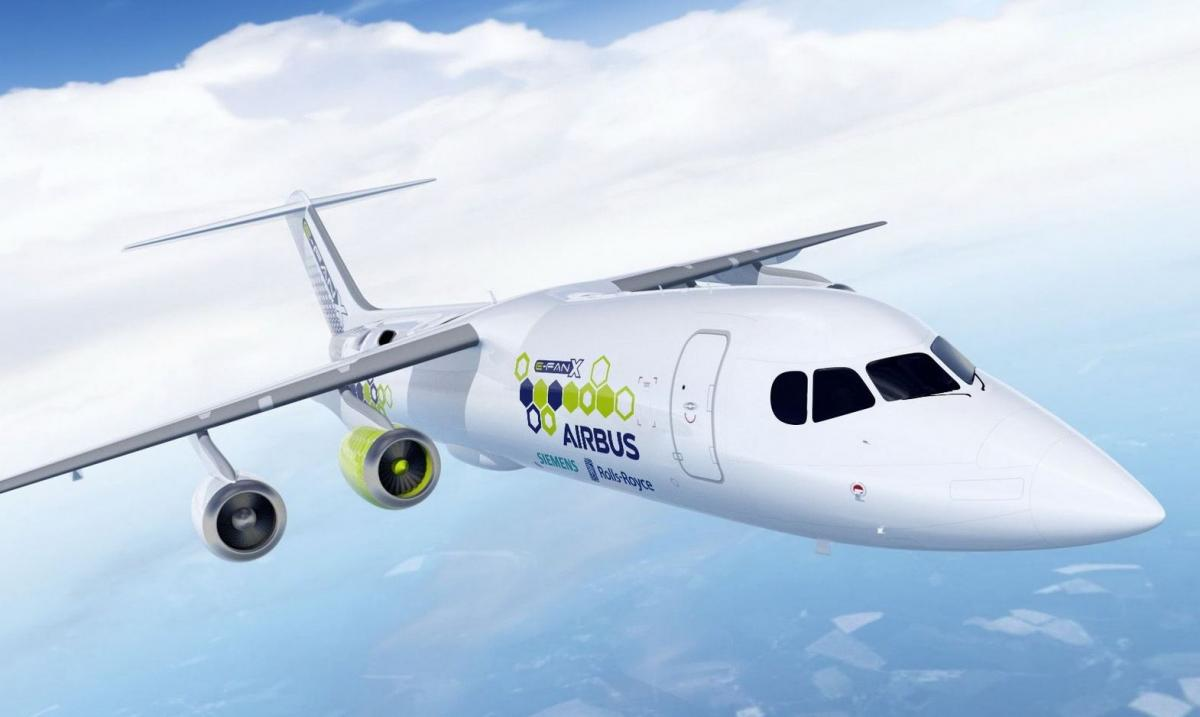 Airbus, Rolls-Royce, and Siemens demo version of a hybrid-electric passenger plane. Illustration: Siemens