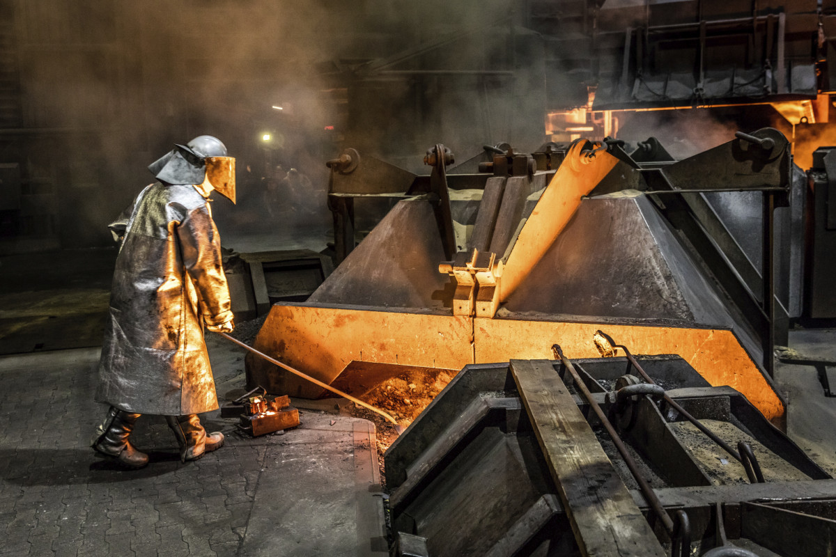 Photo shows steel production in Germany. Photo: Salzgitter AG.