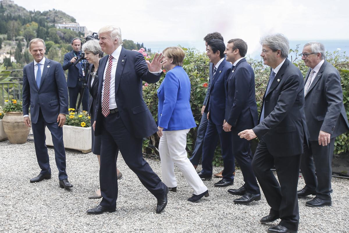 US President Donald Trump at the G7 summit in Italy. Photo: EU Council