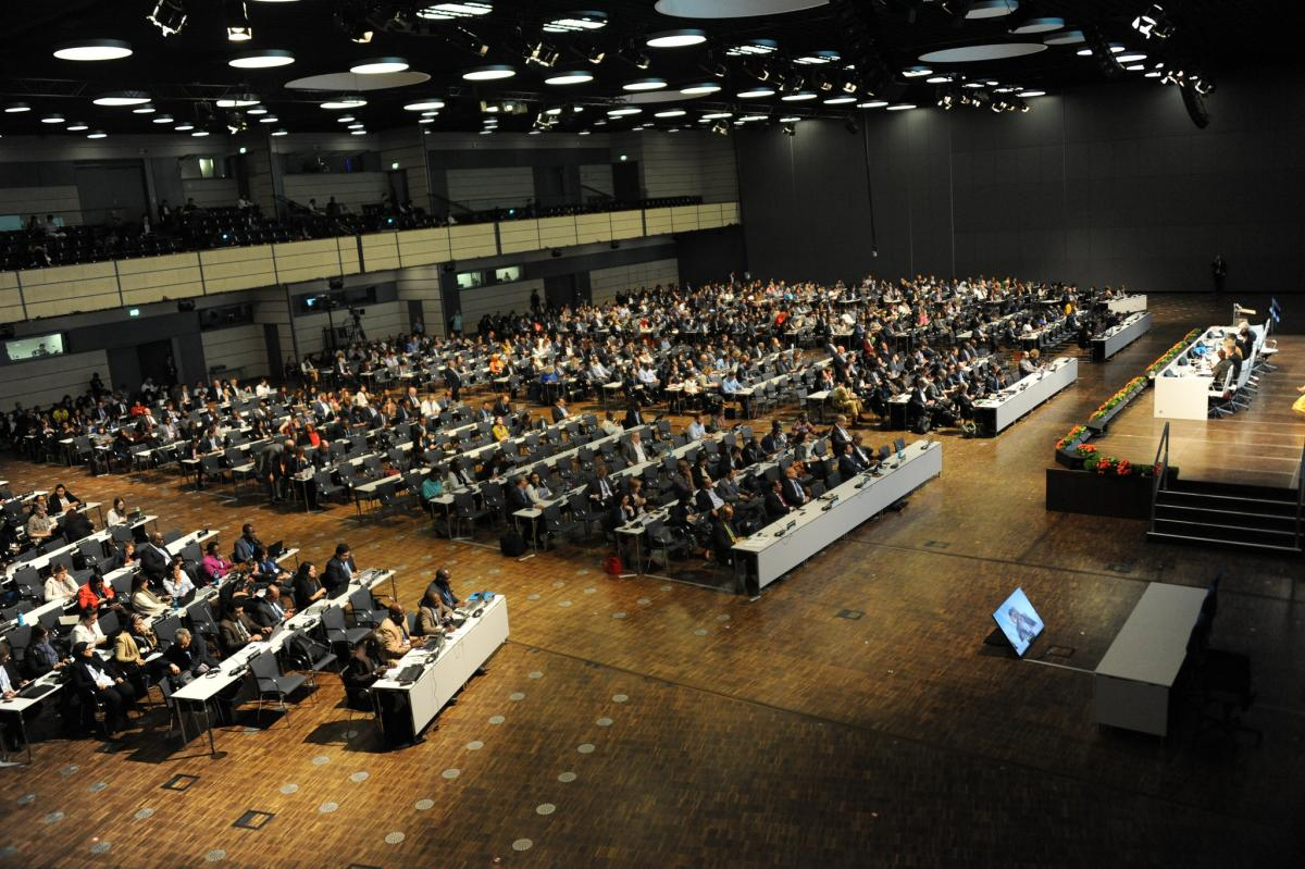 Closing plenary of the UNFCCC climate conference in Bonn. Photo - UNFCCC, 2018.