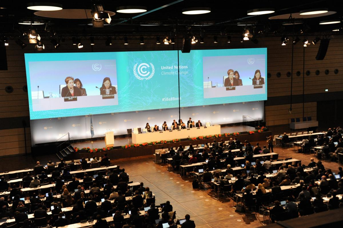 Opening plenary of the UNFCCC climate conference in Bonn. Photo: UNFCCC, 2018.