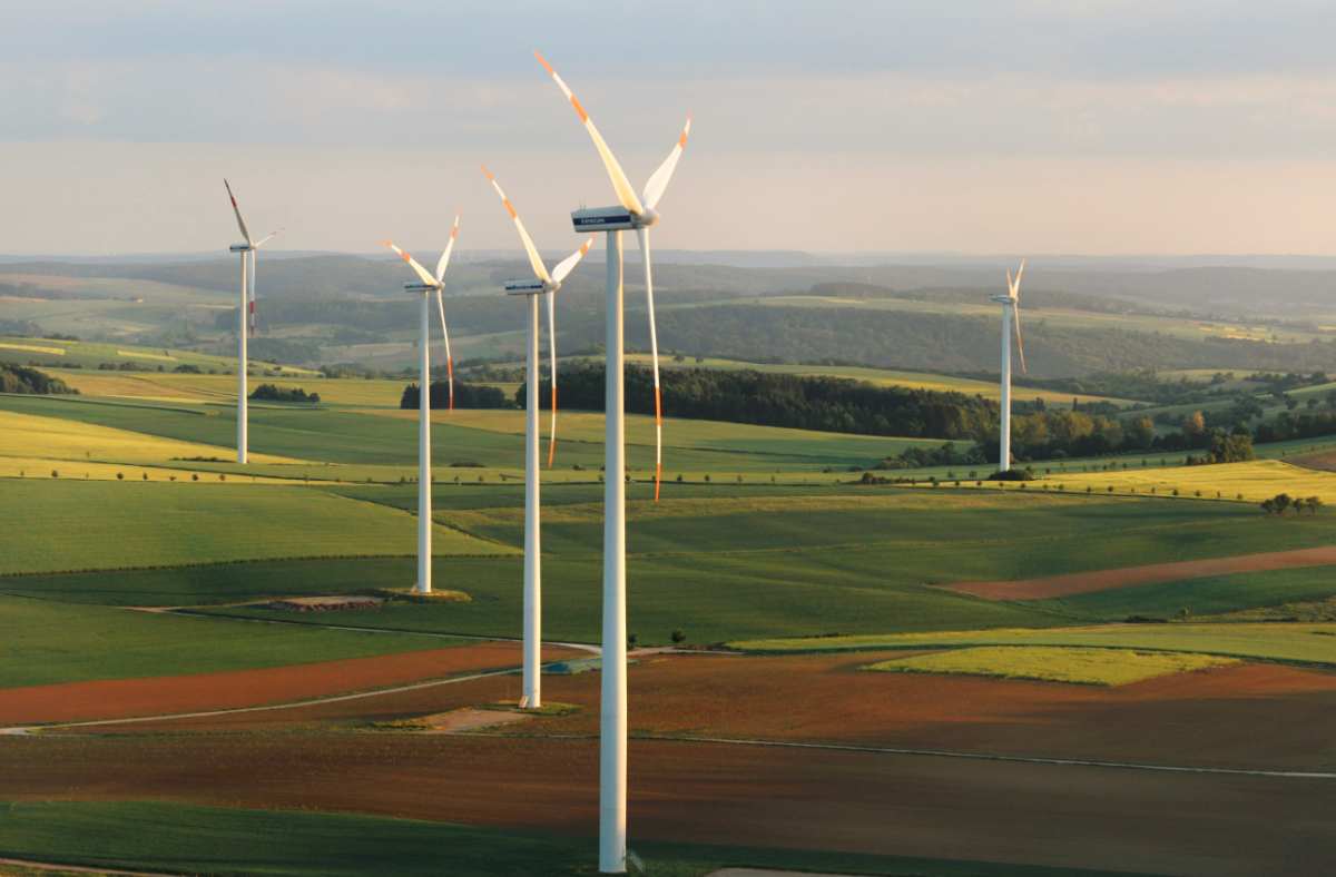 Wind turbines in central German state Thuringia. Photo: BWE