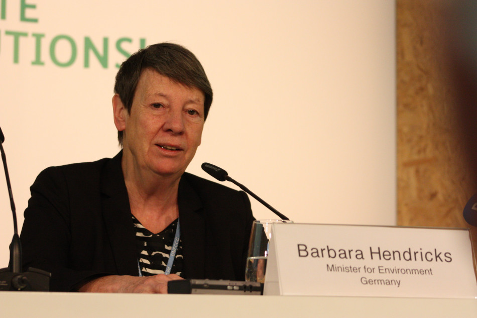 German environment minister Barbara Hendricks. Source - CLEW 2017.