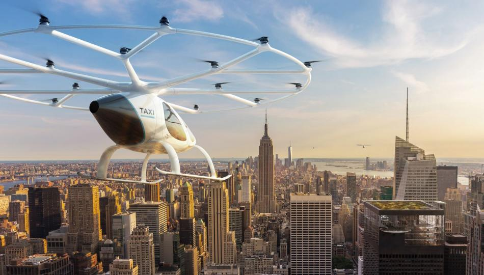 The autonomous flying taxi proposed by Volocopter. Copyright: Volocopter