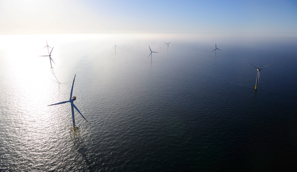 The first German wind farm, Alpha Ventus, in the North Sea. Photo: DOTI2010/AlphaVentus