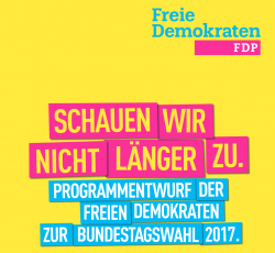 Cover of the Free Democrats' preliminary programme for the 2017 German parliamentary elections - Source / FDP
